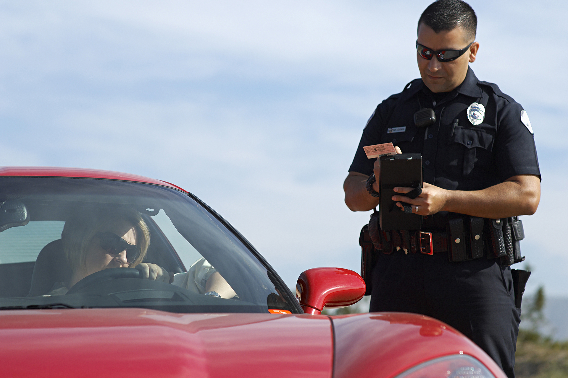 Police Officer Making a Mistake While Issuing Traffic Ticket